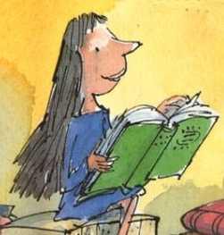 Détail de la couverture de Matilda © Roald Dahl illustré par Quentin Blake/Folio